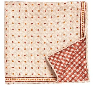 Brunello Cucinelli Gingham Silk Pocket Square