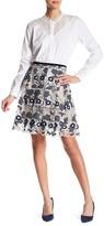 T Tahari Nicole Embroidered Skirt