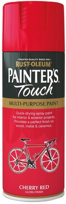 Rust Oleum Painters Touch Gloss Finish Multi-Purpose Spray Paint Cherry Red 400 ml