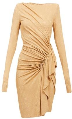 Alexandre Vauthier Ruffled Studded-jersey Dress - Gold