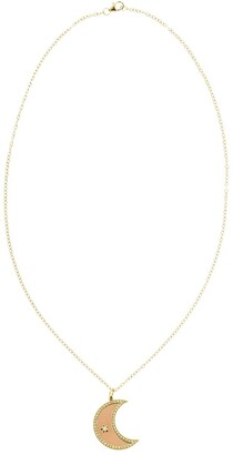 Andrea Fohrman 18kt yellow gold diamond Crescent Moon Phase necklace