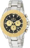 Invicta Men's 'Speedway' Quartz Stainless Steel Casual Watch, Color:Silver-Toned (Model: 22399)