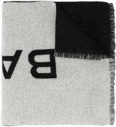 Balenciaga logo drape scarf - women - Cashmere - One Size
