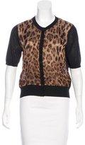 Dolce & Gabbana Leopard Print Short Sleeve Cardigan