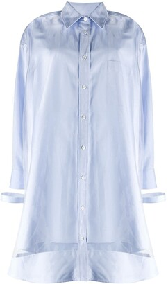 Maison Margiela Sheer-Overlay Shirt-Dress