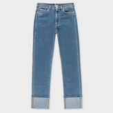 Paul Smith Women's Straight-Leg Mid-Wash Turn-Up Jeans