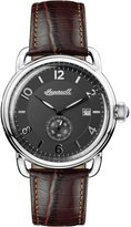 Ingersoll Men's Quartz Stainless Steel and Leather Casual Watch, Color:Brown (Model: I00801)
