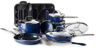 AS SEEN ON TV As Seen On TV Blue Diamond Infused 20-pc. Aluminum Non-Stick Cookware Set