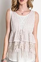 Umgee USA Crochet/lace Vest