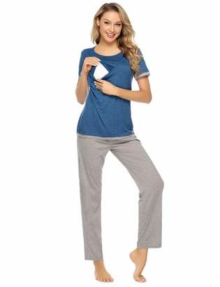 Zeta Ville Womens Maternity Nursing Set Breastfeeding Pyjamas Nightwear 1240