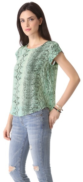 Joie Rancher C Snake Printed Top
