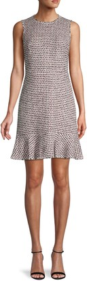 Rebecca Taylor Houndstooth Mini Tweed Dress