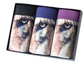 SunRise Mens Sexy 3D Wolf Owl Bulge Animal Pouch Boxer Briefs Underwear (XL(26-38), )
