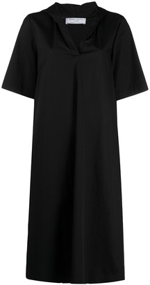 Societe Anonyme Hooded Shift Midi Dress
