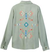 Lucky Brand Kendl Embroidered Button Up Shirt (Big Girls)