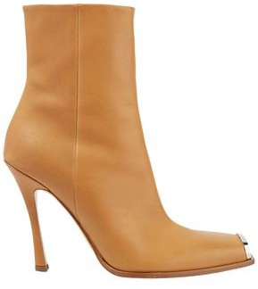 Calvin Klein Wilamiona Metal-trimmed Leather Ankle Boots