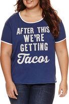 Fifth Sun Short Sleeve Scoop Neck Graphic Ringer T-Shirt