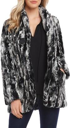 Karen Kane Marble Faux Fur Jacket