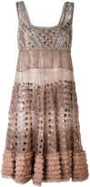 Amen beaded detail mini dress