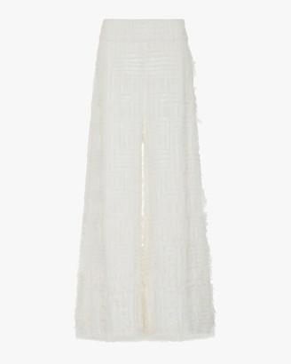 Semsem Embroidered Sequin-Embellished Wide-Leg Pants