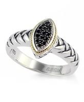 Effy Jewelry Effy 925 Sterling Silver & 18K Gold Black Diamond Ring
