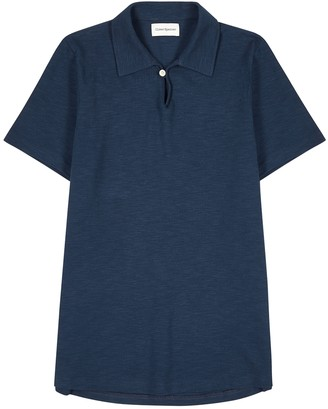 Oliver Spencer Hawthorn navy cotton polo shirt