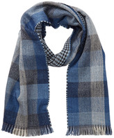 Tommy Bahama Checkered Houndstooth Wool Blend Wrap Scarf