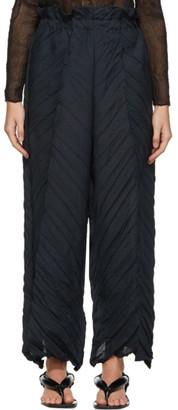 Issey Miyake Black Tectorum Trousers