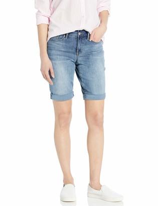 NYDJ Women's Petite Briella Roll Cuff Jean Short in Cool Embrace Denim