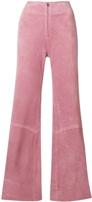 Victoria Beckham Panelled Flare Trousers