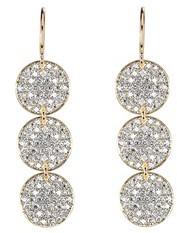 Irene Neuwirth Triple Disc Earrings with Pave Diamonds