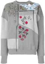 Alexander McQueen embroidered patchwork sweatshirt