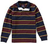 Brooks Brothers Big Boys 8-20 Mock-Neck Long-Sleeve Striped Shirt