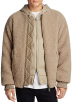 Helmut Lang Luxe Sherpa Bomber Jacket
