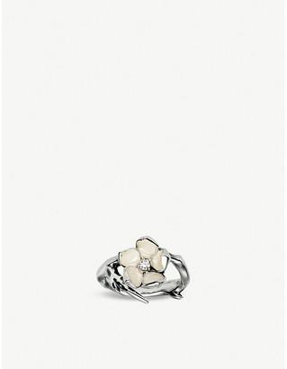 Shaun Leane Cherry Blossom sterling silver diamond ring