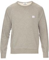 Acne Studios College face-patch cotton sweater