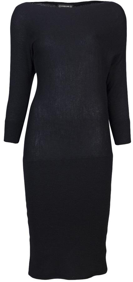 Plein Sud Jeans Drape sweater dress