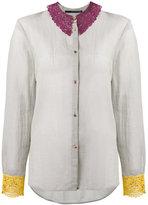 Maurizio Pecoraro lace-embroidered blouse