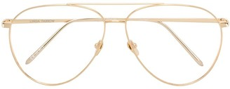 Linda Farrow Aviator Shaped Sunglasses