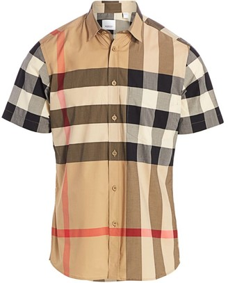 Burberry Somerton Vintage Check Stretch-Cotton Shirt