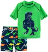 Carter's Toddler Boy 2-pc. Dinosaur Rashguard & Swim Trunks Set