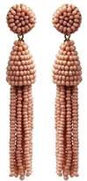 Deepa Gurnani Fashion Jewellery Pink Beaded Drop Tassel Statement Earrings