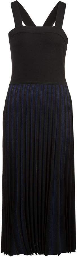 Derek Lam 10 Crosby Knit Dress With Pleated Skirt