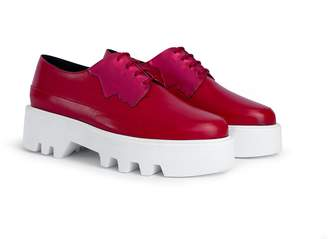 Unreal Fields 2 Faced - Magenta/Red Leather Platform Creepers