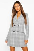 boohoo flannel Tailored Blazer Dress