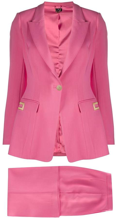 Elisabetta Franchi logo plaque two-piece suit