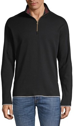 Robert Graham Elliot Long-Sleeve Cotton Sweater