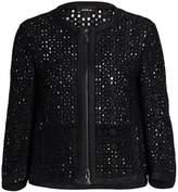 Akris Open Weave Zip-Front Jacket