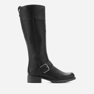 Clarks Women's Orinoco Jazz Leather Warm Lined Knee High Boots - Black - UK 7
