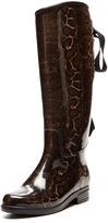 dav Victoria Snake Lace-Up Rain Boot